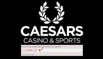 caesars bonus code